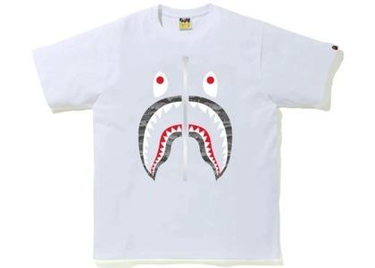 Bape Desert Camo Shark Tee White/Black (SS21)の写真