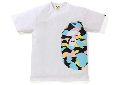 Bape New Multi Camo Side Big Ape Head Tee White (SS21)の写真