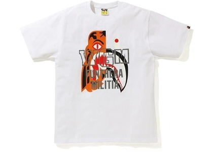 Bape Tiger Shark Tee White (SS21)の写真