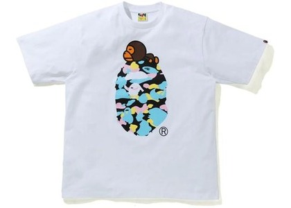 Bape New Multi Camo Milo On Ape Relaxed Tee White (SS21)の写真