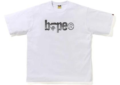 Bape Desert Camo Bape Logo RLX Tee White/Black (SS21)の写真