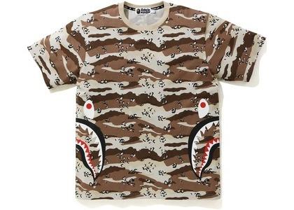 Bape Desert Camo Side Shark Tee Beige (SS21)の写真