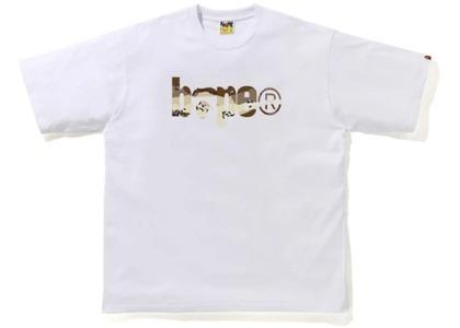 Bape Desert Camo Bape Logo RLX Tee White/Beige (SS21)の写真