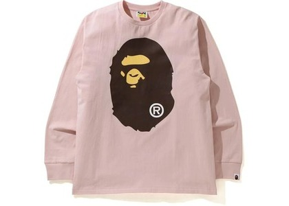 Bape Big Ape Head L/S Tee Pink (SS21)の写真
