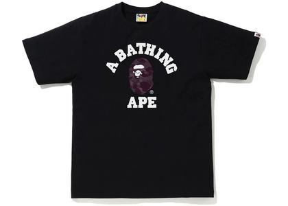 Bape Color Camo College Tee Black/Burgundy (SS21)の写真