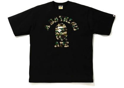 Bape 1st Camo College Relaxe Fit Tee Black/Yellow (SS21)の写真