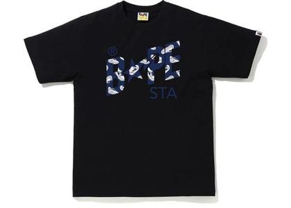 Bape Random STA Logo Tee Black/Navy (SS21)の写真