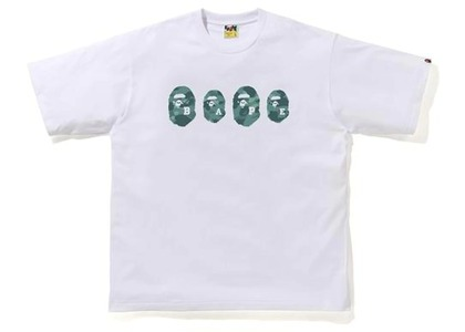 Bape Color Camo Ape Head Relaxed Tee White/Green (SS21)の写真