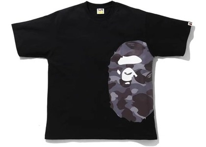Bape Color Camo Side Big Ape Head Relaxed Tee Black/Burgundy (SS21)の写真