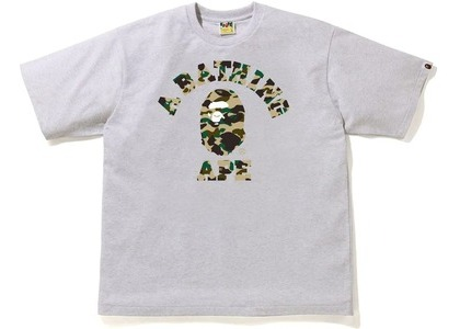Bape 1st Camo College Relaxe Fit Tee Gray/Yellow (SS21)の写真