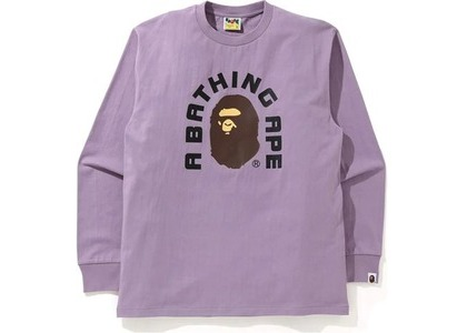 Bape College 2022 L/S Tee Purple (SS21)の写真