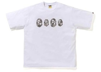 Bape Color Camo Ape Head Relaxed Tee White/Gray (SS21)の写真