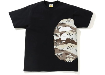 Bape Desert Camo Side Big Ape Head Tee Black/Beige (SS21)の写真