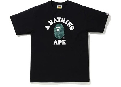 Bape Color Camo College Tee Black/Green (SS21)の写真