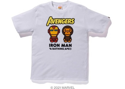 Bape x Marvel Comics Milo Iron Man Tee White (SS21)の写真