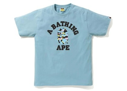 Bape New Multi Camo College Tee Sax (SS21)の写真