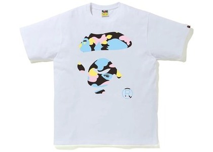 Bape New Multi Camo Ape Face Tee White (SS21)の写真