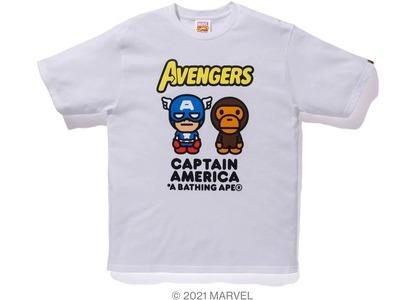 Bape x Marvel Comics Milo Captain America Tee White (SS21)の写真