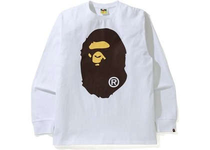 Bape Big Ape Head L/S Tee Tee White (SS21)の写真