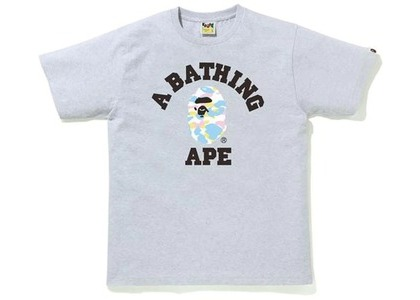 Bape New Multi Camo College Tee Gray (SS21)の写真
