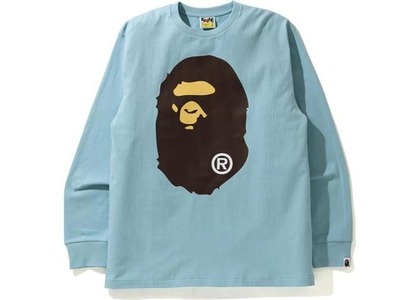 Bape Big Ape Head L/S Tee Sax (SS21)の写真