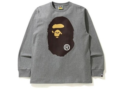 Bape Big Ape Head L/S Tee Tee Gray (SS21)の写真