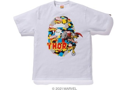 Bape x Marvel Comics Camo Mighty Thor Tee White (SS21)の写真