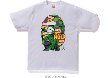 Bape x Marvel Comics Camo The Hulk Tee White (SS21)の写真