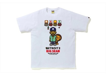 Bape x Big Sean Detroit 2 Baby Milo Tee White (SS21)の写真