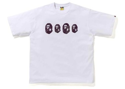 Bape Color Camo Ape Head Relaxed Tee White/Burgundy (SS21)の写真