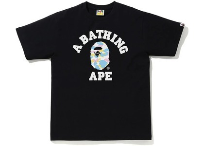 Bape New Multi Camo College Tee Black (SS21)の写真