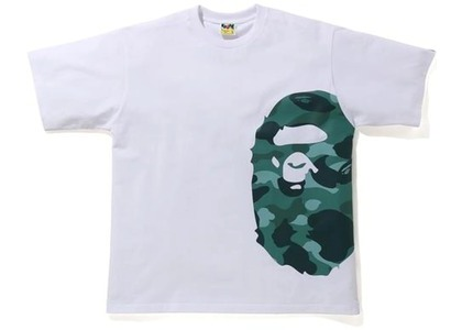 Bape Color Camo Side Big Ape Head Relaxed Tee White/Green (SS21)の写真
