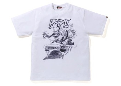 Bape x Readymade Shark Wide Tee White (SS21)の写真