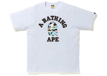 Bape New Multi Camo College Tee White (SS21)の写真