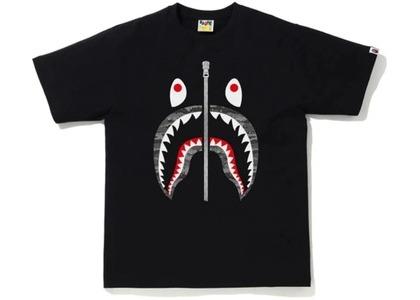 Bape Desert Camo Shark Tee Black/Black (SS21)の写真