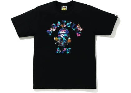 Bape x Kid Cudi College Moon Man Tee Black (SS21)の写真