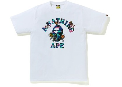 Bape x Kid Cudi College Moon Man Tee White (SS21)の写真