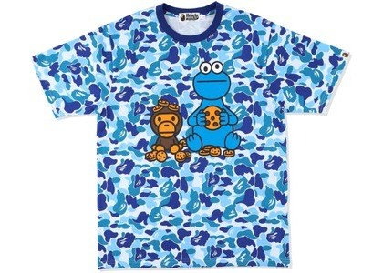 Bape x Sesame Street ABC Camo Tee Blue (SS21)の写真