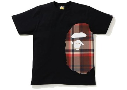 Bape Check Side Big Ape Head Tee Black/Red (SS21)の写真