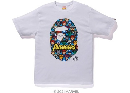 Bape x Marvel Comics Avengers Ape Head Tee White (SS21)の写真