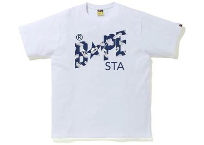 Bape Random STA Logo Tee White/Navy (SS21)の写真