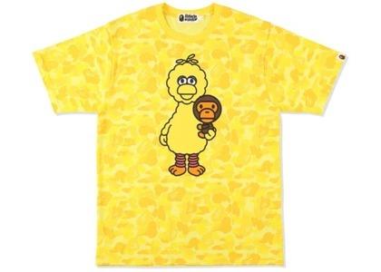 Bape x Sesame Street ABC Camo Tee Yellow (SS21)の写真