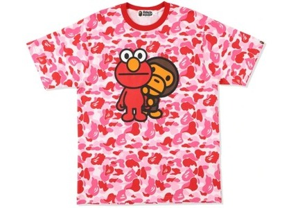 Bape x Sesame Street ABC Camo Tee Pink (SS21)の写真