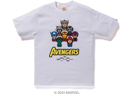Bape x Marvel Comics Milo Avengers Tee White (SS21)の写真