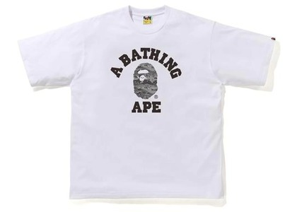 Bape Desert Camo College Relaxed Tee White/Black (SS21)の写真