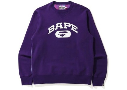 Bape Check Crewneck Purple (SS21)の写真