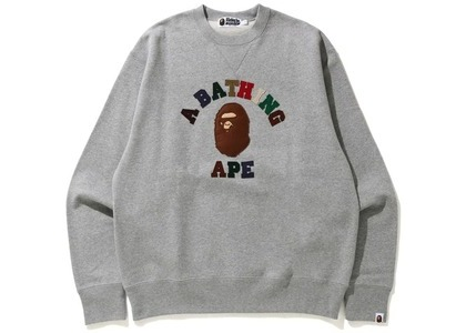 Bape College Applique Relaxed Fit Crewneck Gray (SS21)の写真