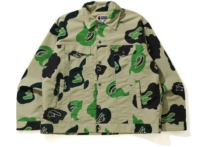 Bape Def Camo Loose Fit Trucker Jacket Beige (SS21)の写真