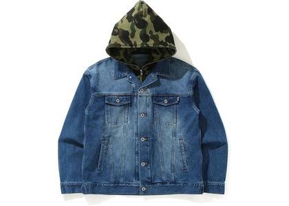 Bape 1st Camo Loose Fit Hoodie Denim Jacket Indigo (SS21)の写真