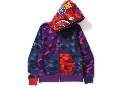 Bape Color Camo Crazy Shark Full Zip Hoodie Multi (SS21)の写真